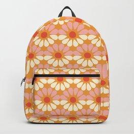 Retro Flowers Vintage Geometric Backpack
