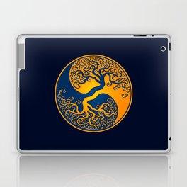 Blue and Yellow Tree of Life Yin Yang Laptop & iPad Skin