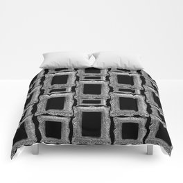 Antique Frame black and white #2 Comforters