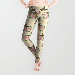 Fintastic Florals - Cream & Grey Leggings