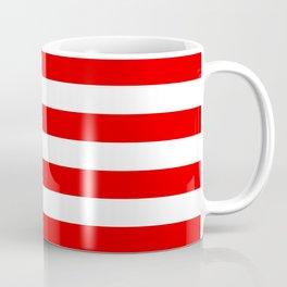 Stripe Red White Coffee Mug