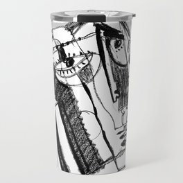 Waiting for Salvation - b&w Travel Mug
