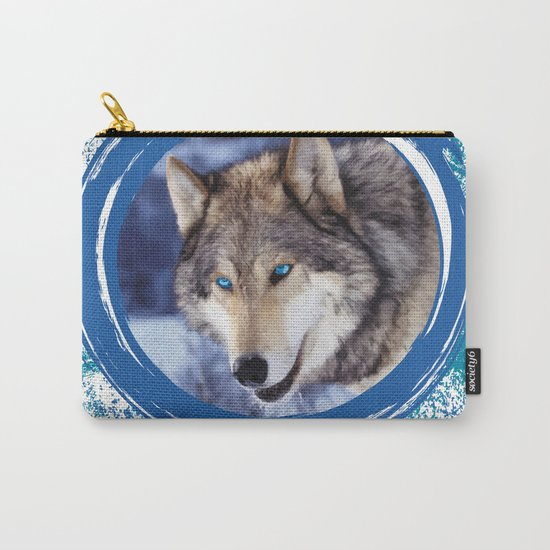 Blue-Eyed Wolf Carry-All Pouch