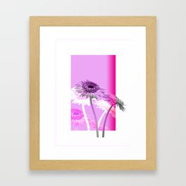 flowers are flowers and pink is the warmest color Framed Art Print