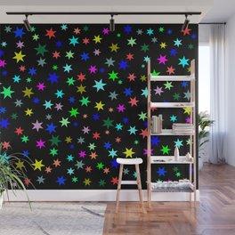 Stars on black ground Wall Mural