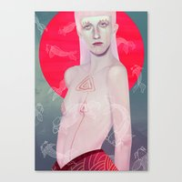 koi Canvas Prints featuring Koi by Josh Merrick