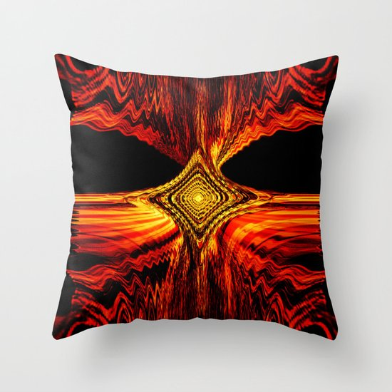 Abstract.Red Flame. Throw Pillow
