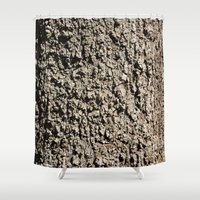 western Shower Curtains featuring TEXTURES -- Western Sycamore Bark by Ralph S. Carlson