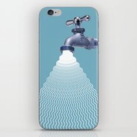waterfall iPhone & iPod Skins featuring Waterfall by Shkvarok