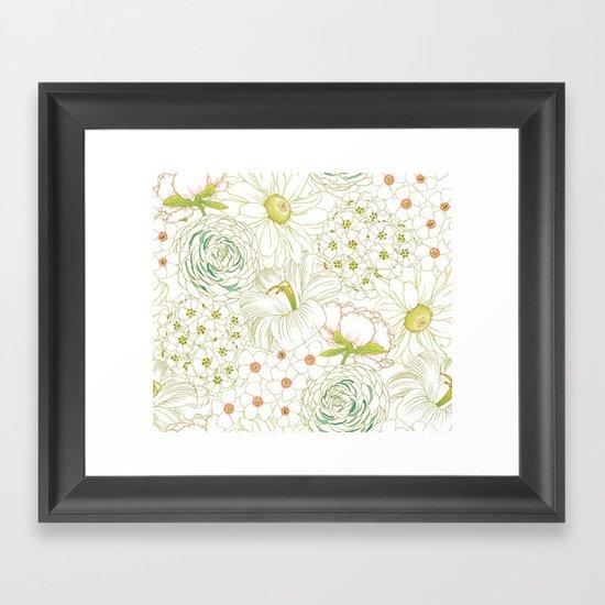 Big Blooms Framed Art Print