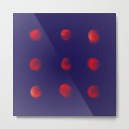 Total eclipse of the polka dot Metal Print