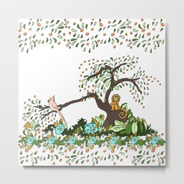 Jungle Monkey Metal Print