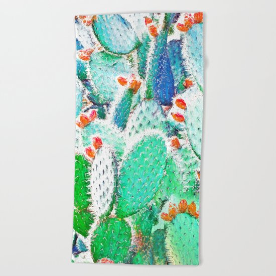 Painted Cactus #society6 #decor #buyart Beach Towel