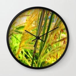 Seedy Weeds Wall Clock