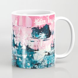 Inside out   Navy blue pastel pink abstract original acrylic painting Coffee Mug