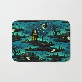 Halloween Night - Fox Fire Green Bath Mat