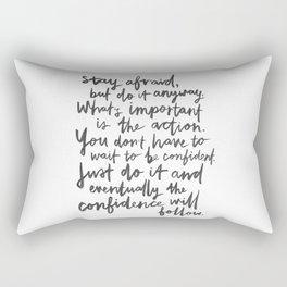 Do It Anyway Rectangular Pillow