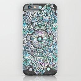 Mermaid Mandala on Deep Gray iPhone Case