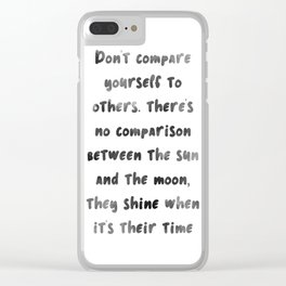 Let the sun & moon inspire you Clear iPhone Case