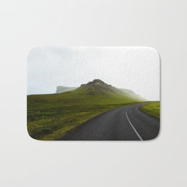 On the road in Iceland Bath Mat