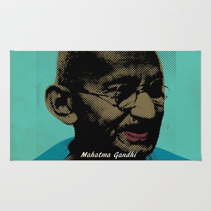Mahatma Gandhi Pop Art Pictures Rug