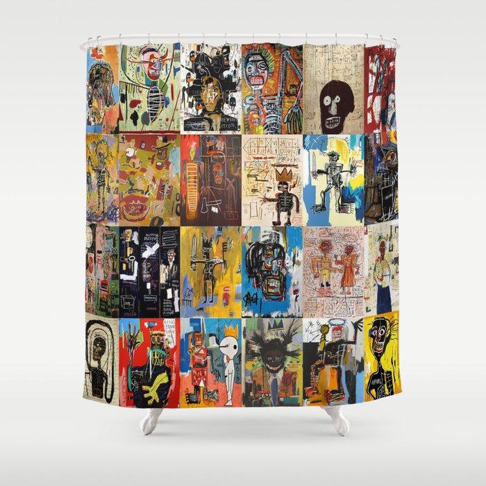 Basquiat Montage Shower Curtain