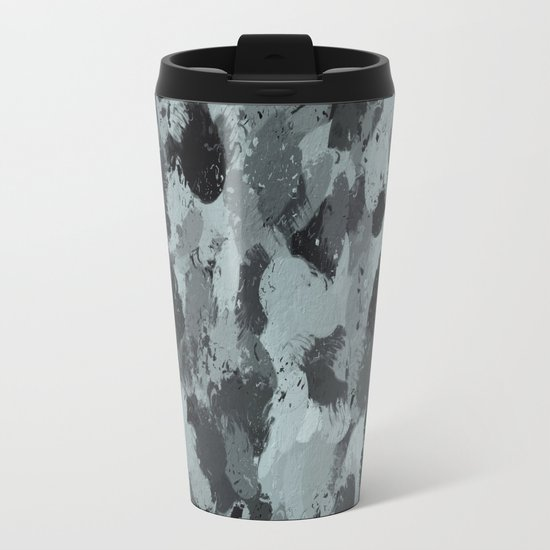 Black and Smokey Blue Pastels 3216 Travel Mug