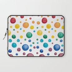 Rainbow Chakra Watercolor Circles Laptop Sleeve