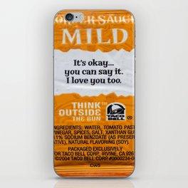 taco bell sauce iPhone Skin