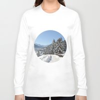 switzerland Long Sleeve T-shirts featuring Winter in Switzerland by Design Windmill