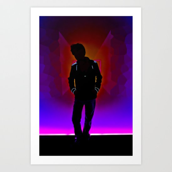 The Backlit Kid Art Print