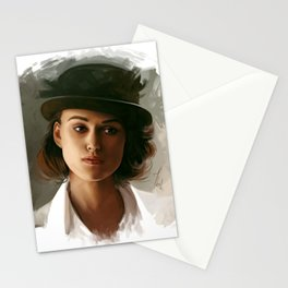 Keira Knightley in hat Stationery Cards