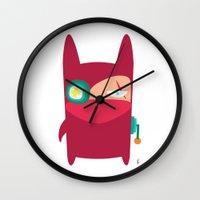 ninja Wall Clocks featuring Ninja by Joy Pham