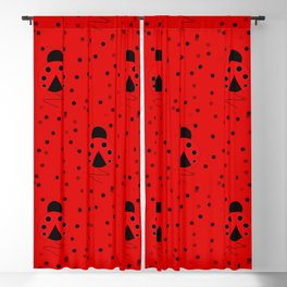 Ladybug Pattern Blackout Curtain