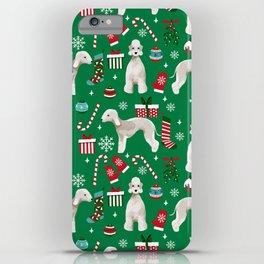 Bedlington Terrier christmas dog pattern gifts dog breed pet friendly design iPhone Case