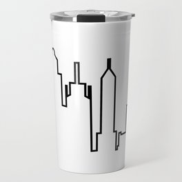 New York City Skyline Silhouette Travel Mug