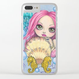 Amora, the Jellyfish Whisperer Clear iPhone Case