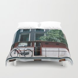 A Day in Amsterdam Duvet Cover