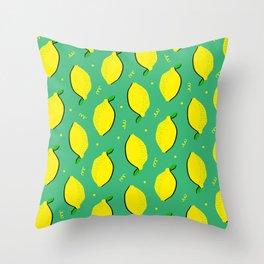 Lemon Squeezy 01 Throw Pillow