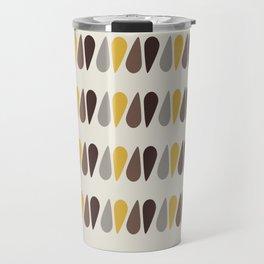 Pattern black brawn yellow Travel Mug