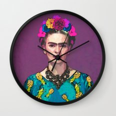 Trendy Frida Kahlo Wall Clock