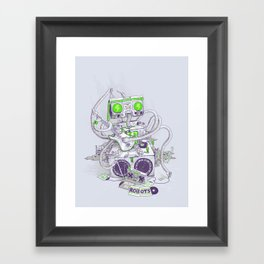 Hippy robot Framed Art Print