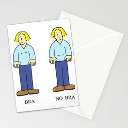 Bra No Bra Cartoon Stationery Cards