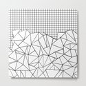 Abstract Grid #2 Black on White by projectm