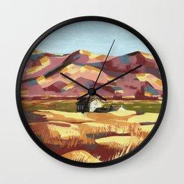 Western Landscape - Little Cottage Wall Clock