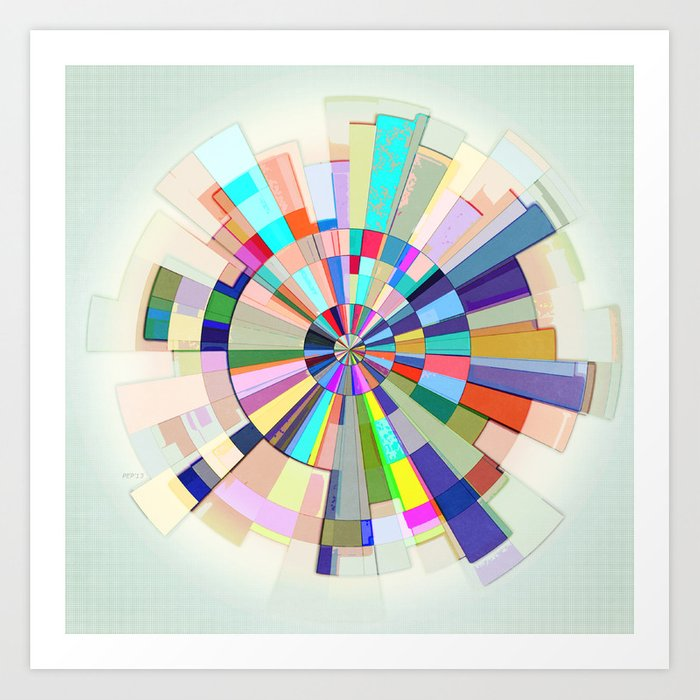 Unusual image intended for printable color wheel for artists