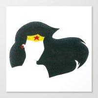 super hero Canvas Prints featuring super hero by Cream Empire