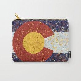 Splatter Colorado Flag Art Carry-All Pouch