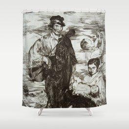 Édouard Manet - The Gypsies (Les Gitanos) Shower Curtain
