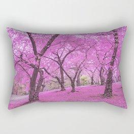New York City Springtime Cherry Blossoms Rectangular Pillow